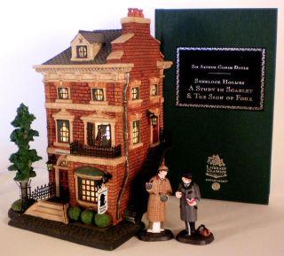 Sherlock Holmes 221B Baker St Book New Department Dept 56 Dickens Village DV