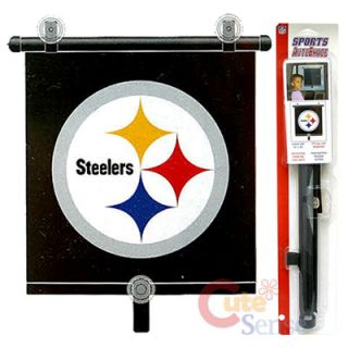 NFL Pittsburgh Steelers Auto Car RARE Window Sun Shade