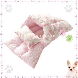 Pink Stripe 100 Cotton Pets Puppy Dog Cat Beds House Pet Warm Sleeping Bag New