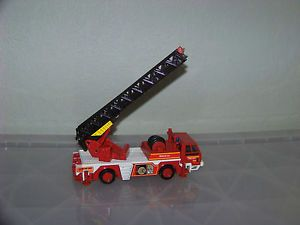 Vintage Fire Truck Dept Rescue Turntable Ladder Diecast by Joal