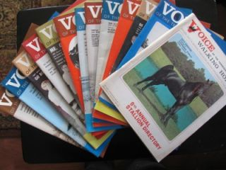 13 1960s Voice of The Tennessee Walking Horse Magazines Stallion Champion Issues
