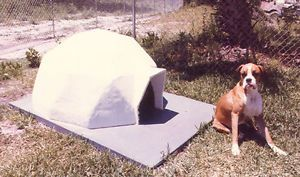 Dome Dog House Polystyrene Concrete All Weather Best Protection Aidomes