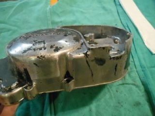 1972 Kawasaki 350 S2 Mach 11 Clutch Cover Case Left Engine S3 KH400 400 Triple