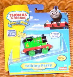 Fisher Price Talking Percy Thomas Tank Engine Die Cast Train Take N Play