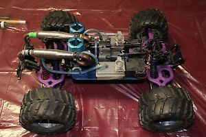Special One of A Kind Custom Dual Engine Traxxas T Maxx RC Monster Truck
