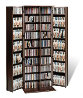 Prepac ELS 0448 Grande Locking Media Storage Cabinet with Shaker Doors