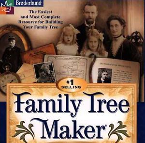 Family Tree Maker 5 w Manual PC CD Research Relatives History Genealogy Data