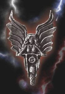Guardian Angel on Motorcycle Guardian® Bell Biker Pin