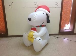 Snoopy And Woodstock Christmas Inflatable.Gemmy Prototype Airblown Inflatable Christmas Peanuts Snoopy