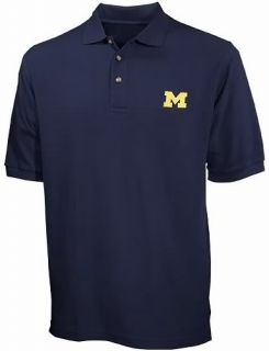 University of Michigan Wolverines NCAA Navy Polo Golf Shirt Big Tall Sizes