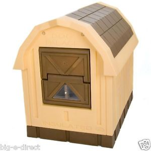 ASL Solution Large Outdoor Insulated Dog House Pet Palace Easy Pass Door Plastic