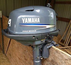 2002 Yamaha Four Stroke 4HP 4 Horse Kicker Outboard Boat Motor