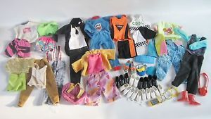Barbie Ken 1980's 90's Clothing Lot Outfits Shoes Accessories