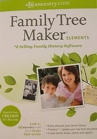 Family Tree Maker Elements by Ancestry com Brand New SEALED Box PC 2012