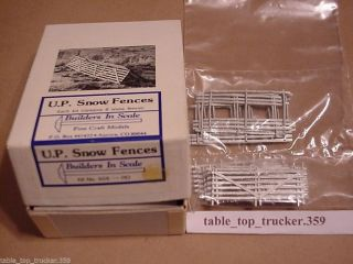 Builders in Scale HO Scale U P Snow Fences Kit Contains 8