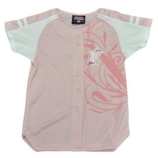 MLB Florida Miami Marlins Youth Kids Girls Baseball Jersey Pink White Polyester