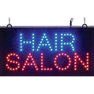 Illuminated Hair Salon LED Sign Lighted Hanging Window Display Lit Banner Light
