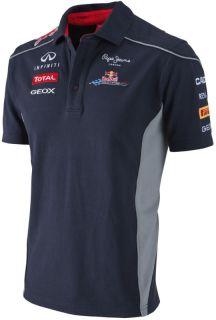 Authentic Infiniti Red Bull Racing F1 Team 2013 Men 3 Button Polo Shirt Vettel