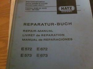 Hatz E571 E572 E573 E671 E672 E673 Engines Repair Manual