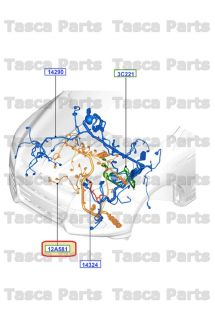 New Engine Compartment Main Wiring Harness 2013 Ford Escape 2 5L Engine
