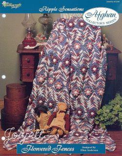 Flowered Fences Afghan Ripple Sensations Crochet Pattern