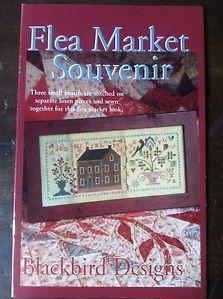 Blackbird Designs Flea Market Souvenir Counted Cross Stitch Pattern Sampler