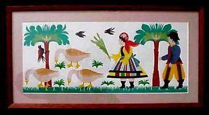 Wonderful Poland Folk Art Scherenschnitte Paper Cut Peasant Costumes Geese