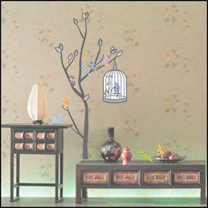 Bird Tree Decor Mural Art Wall Paper Sticker EC 03