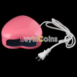 110V Nail Art Heart Shape Lamp Light Top LED UV Gel Salon Design Cure Dryer 26