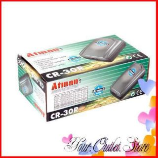 Aquarium Fish Tank Filter Air Pump Twin Outlet Silent