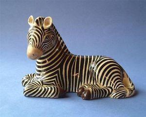 Mexican Sermel Folk Art Paper Mache Zebra Figurine