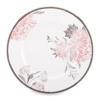 Spring Lark 8 Salad Plate, Platinum Band Fine China