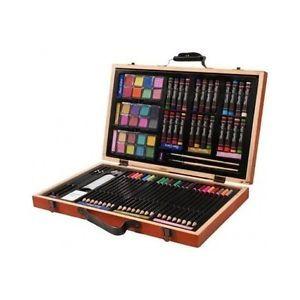 Darice Art Set Kit Supplies Drawing Pencils Paint Color Painting Oil Artist Case