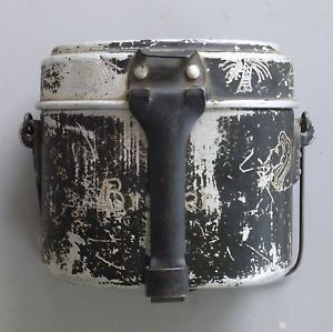 WW2 German Afrika Korps Trench Art Mess Kit IDD Wehrmacht Pin Up Girl
