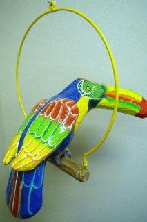 Tropical Rainforest Toucan Haitian Paper Mache Art