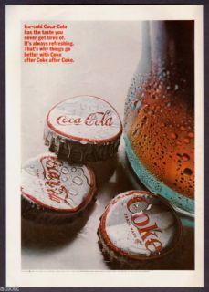 1966 Coca Cola Bottle Caps Photo Coke Vintage Print Ad