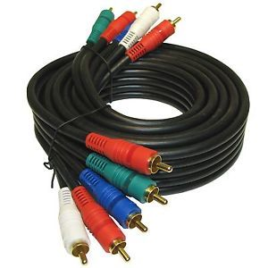 New 30 ft Foot HD TV Component Video Audio RCA Plasma LCD Projector Cord Cable
