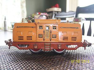 Original Pre War O Gauge Lionel 250 Engine Yellow Orange Terra Cotta Runs