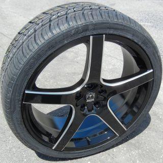 "22"" Black Motiv Maranello Wheels Rims Tires Magnum Charger Challenger 300C SRT8"