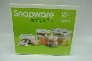 Snapware Airtight 18 Piece Plastic Food Storage Container Set Food Constainers