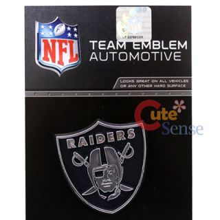 NFL Oakland Raiders Team Logo Auto Car Emblem Auto Accessories Chrome Finish