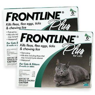Merial Frontline Plus for All Cats 12 Single Dose Vials for A 12 Month Supply 000059676263