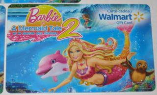 Canada Gift Card Barbie in A Mermaid Tale 2 No Value New Bilingual