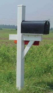 New Dura Trel White Vinyl Mailbox Post Outside Front Yard Street Made in USA