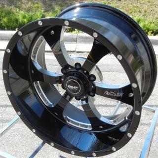 "20x9"" BMF Novakane Black Wheels Rim Chevy Silverado GMC Sierra 1500 Titan Tacoma"