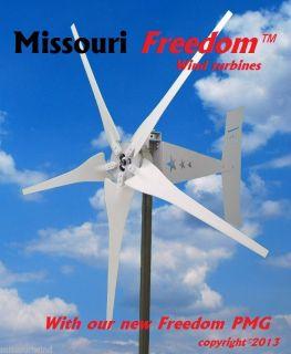 Missouri Freedom 24 Volt 1600 Watt Max 5 Blade Wind Turbine Generator PMG