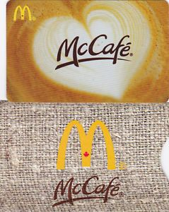 1 McDonalds Gift Card New No Value 1 Sleeve