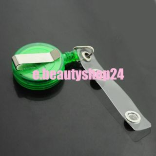 Retractable Badge ID Card Key Holder Metal Clip Reel 4 Colors