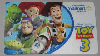 Gift Card Toy Story 3 Lenticular Collectible No Value Bilingual New