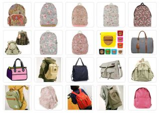 Unihood New Womens Rose Floral Print Backpack Girls School Bags Campus Bookbags
